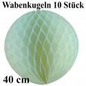 Wabenkugel / Weiß / 10Stck./ 40cm