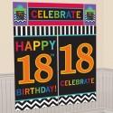 Wanddekoration Celebrate 18, 5-teiliges Set zum 18. Geburtstag