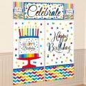 Wanddekoration Happy Birthday, 5-teiliges Set zum Geburtstag