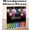 Wandposter Disco Party, 70er Jahre Disco-Fever, 1,65 Meter x 0,82 Meter