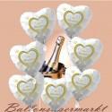 Wedding-Wishes, 7 Hochzeits-Luftballons mit Helium im Karton