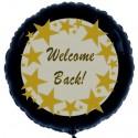 Welcome Back, Willkommen zurück, Luftballon mit Ballongas-Helium, Ballongruß, Motiv 2