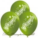 Willkommen, Motiv-Luftballons, Grün, 3 Stück