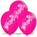 Willkommen, Motiv-Luftballons, Pink, 3 Stück