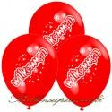 Willkommen, Motiv-Luftballons, Rot, 3 Stück