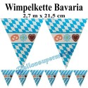 Wimpelkette Bavaria, PVC, 2,7 Meter