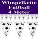 Fußball Wimpelkette, 4 Meter