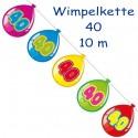 Wimpelkette Balloonshape 40, Dekoration 40. Geburtstag