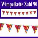"Wimpelkette ""90"""