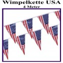 Wimpelkette USA 4 m