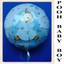 Winnie the Pooh Luftballon zu Geburt und Taufe eines Jungen, Pooh Baby Boy, Ballon mit Ballongas Helium