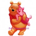 Luftballon Pooh Shape I, Folienballon mit Ballongas