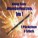 Wunderkerzen 1 m, King Size, 1 Päckchen 3 Stück