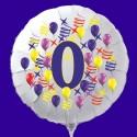 Zahlen-Luftballon aus Folie mit Helium, Zahl 0, Geburtstag, Jubiläum