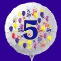 Zahlen-Luftballon aus Folie mit Helium, Zahl 5, Geburtstag, Jubiläum