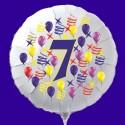 Zahlen-Luftballon aus Folie mit Helium, Zahl 7, Geburtstag, Jubiläum