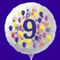 Zahlen-Luftballon aus Folie mit Helium, Zahl 9, Geburtstag, Jubiläum
