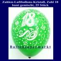 Zahlen-Luftballons-Kristall, 18