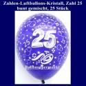 Zahlen-Luftballons-Kristall, 25