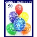 """Luftballons, Latexballons 50 Stück  """"30"""""""