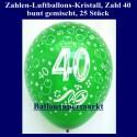 Zahlen-Luftballons-Kristall, 40