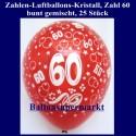Zahlen-Luftballons-Kristall, 60