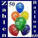 """Luftballons, Latexballons 50 Stück  """"60"""""""