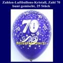 Zahlen-Luftballons-Kristall, 70