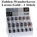 Wunderkerze Zahl 0-9, 1 Stück, Luxus-Gold