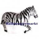 Luftballon Zebra, Folienballon mit Ballongas