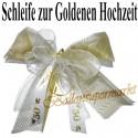 Hochzeitsschleife, Hochzeitsdeko-Zierschleife, Goldene Hochzeit