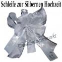 Hochzeitsschleife, Hochzeitsdeko-Zierschleife, Silberhochzeit