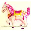 Luftballon Zirkuspferd rosa, Folienballon mit Ballongas