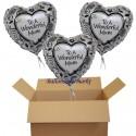 Zum Muttertag, Herzluftballon aus Folie, to a wonderful mum, (heliumgefüllt)