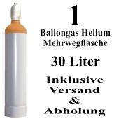 Ballongas Helium 30 Liter Mehrwegflasche