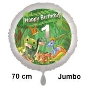 Dinosaurier Luftballon Zahl 1 zum 1. Geburtstag, 70 cm