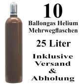 10 Ballongas Helium 25 Liter Flaschen