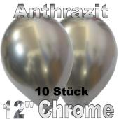 Luftballons in Chrome Anthrazit 30 cm, 10 Stück