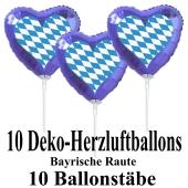 10-Stueck-Deko-Herz-Luftballons-Oktoberfest-mit-Ballonstaeben