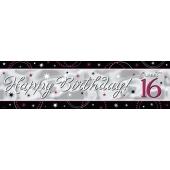 Riesen Geburtstagsbanner zum 16. Gebutstag