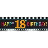 Riesen Geburtstagsbanner zum 18. Gebutstag