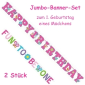 Jumbo-Banner-Set Sweet Birtday Girl