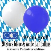20-blaue-und-weisse-Luftballons-40 cm-gross-Oktoberfest-Dekoration