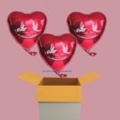 Hochzeitsballons, Luftballons zur Hochzeitsfeier, 3 Folienballons Alles Gute zur Hochzeit mit Helium