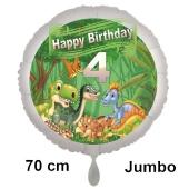 Dinosaurier Luftballon Zahl 4 zum 4. Geburtstag, 70 cm
