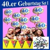 Geburtstagsdeko-Set 1 zum 40. Geburtstag