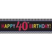 Riesen Geburtstagsbanner zum 40. Gebutstag
