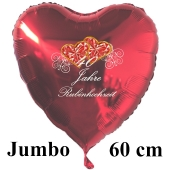 40 Jahre Rubinhochzeit, 60 cm großer Luftballon in Herzform, rot
