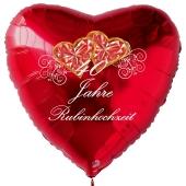 40 Jahre Rubinhochzeit, Luftballon in Herzform, rot