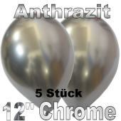 Luftballons in Chrome Anthrazit 30 cm, 5 Stück